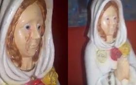 Hàng trăm người kéo tới một thị trấn tại Argentina để chứng kiến tượng Đức mẹ Đồng trinh khóc ra máu