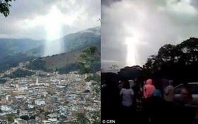 Sau thảm họa lở đất tại Colombia, người ta thấy một bóng hình như của Chúa xuất hiện trên bầu trời