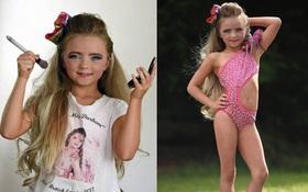 Mới 7 tuổi, cô bé đã bị mẹ bắt nhuộm tóc, trang điểm, làm da nâu để nổi tiếng và đi thi hoa hậu