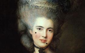 """""""Chấm nốt ruồi giả"""" trên mặt - mật mã tán tỉnh của các quý cô thế kỷ 18"""