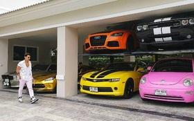 Sở hữu quá nhiều siêu xe, DJ Thái Lan nghĩ ra cách siêu độc nhằm tiết kiệm chỗ để xe trong nhà