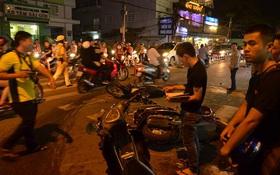 Ô tô bán tải tông hàng loạt xe trên phố Sài Gòn, ít nhất 4 người bị thương trong đó có 1 em bé
