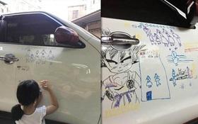 Con gái 5 tuổi vẽ lung tung lên ô tô, nhưng ông bố lại chẳng nỡ tức giận bởi vì...