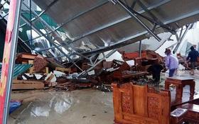 Lốc xoáy ở Thái Bình: 4 người bị thương, nhà đổ sập, tốc mái