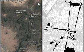 """Bí ẩn những """"hàng rào đá"""" ngàn năm tuổi ở vùng sa mạc Saudi Arabia được phát hiện qua Google Earth"""