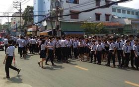 Cháy trường học ở TP.HCM, hàng trăm giáo viên và học sinh tháo chạy thục mạng