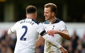 Kane ghi 3 bàn, Tottenham tạm chiếm ngôi nhì của Liverpool