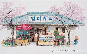 """Có một Hàn Quốc đẹp """"không thốt nên lời"""" qua tranh vẽ suốt 20 năm của người họa sĩ tài năng"""