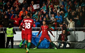Ronaldo lập cú đúp siêu phẩm, Bồ Đào Nha thắng trận thứ tư liên tiếp