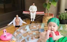 """Em bé Nhật Bản """"nổi như cồn"""" vì đi đâu cũng có hai """"cận vệ"""" theo sát"""