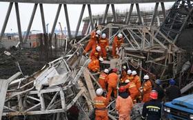 Sập nền nhà máy nhiệt điện Trung Quốc, 9 người chết