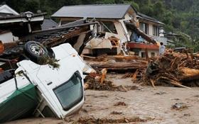 Nhật Bản: Mưa lũ tàn phá khu vực Tây Nam, 400.000 người sơ tán khẩn cấp