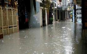 Tổ dân phố 44, phường Yên Hòa (Cầu Giấy, Hà Nội): Cứ mưa là phố biến thành sông