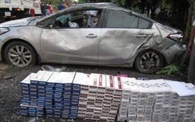 Ô tô chở thuốc lá lậu tông chết người, tài xế bỏ trốn