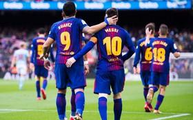 Messi và Suarez cùng nổ súng, Barca vẫn bị chia điểm ngay tại Nou Camp