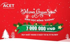 """Mừng giáng sinh – Rinh học bổng """"khủng"""" lên đến 7.000.000 VNĐ"""
