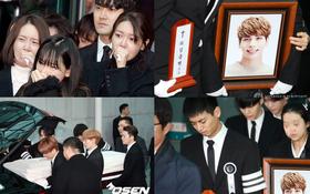 Tang lễ đưa tiễn Jonghyun: Taeyeon, Key khóc lịm đi trong giờ phút cuối cùng, Minho mếu máo cầm bài vị