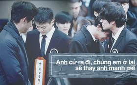 Trong tang lễ Jonghyun, có những người cố nín khóc: Anh cứ an tâm ra đi, chúng em ở lại sẽ cố thay anh mạnh mẽ