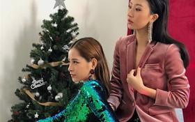 """Chi Pu & Quỳnh Anh Shyn cùng """"lên đồ"""" cho nhau, gợi ý ăn mặc """"chặt chém"""" hết nấc ngày Xmas"""