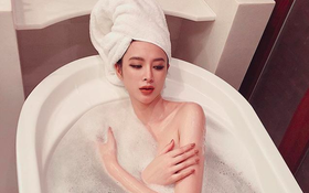 Angela Phương Trinh trở lại cuộc đua khoe thân của Vbiz, nay táo bạo tới mức đăng cả ảnh khỏa thân trong bồn tắm