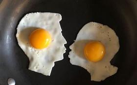 Anh chàng ốp la trứng không theo cách bình thường, cuối cùng lại làm ra những bức tranh nghệ thuật