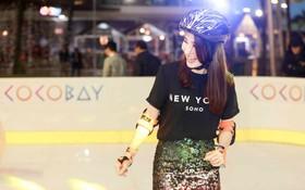 Diễm My 9X sành điệu chơi trượt băng tại Đà Nẵng