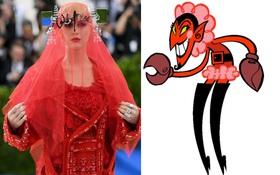 """Xuất hiện như """"yêu quái"""" ở Met Gala, Katy Perry bị chế ảnh hài so sánh với đủ thứ"""