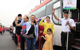 """Hành trình """"Chuyến xe gắn kết"""" đưa 405 công nhân về các tỉnh miền Trung sum họp Tết"""