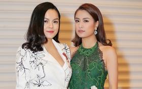 Ba tháng sau sinh, Phạm Quỳnh Anh tự tin đọ nhan sắc cùng Hoàng Thùy Linh tại sự kiện