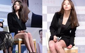 """Dù đã cố che chắn nhưng Sohee vẫn """"hớp hồn"""" fan bởi đôi chân trắng ngần"""