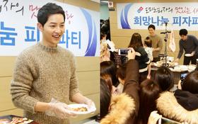 Hết Park Bo Gum, lại đến Song Joong Ki gây náo loạn khi làm từ thiện ở bệnh viện nhi