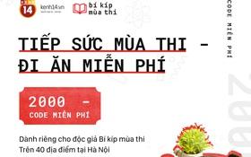Hà Nội: Bí kíp mùa thi tặng 2000 suất ăn miễn phí dành riêng cho sĩ tử 2017