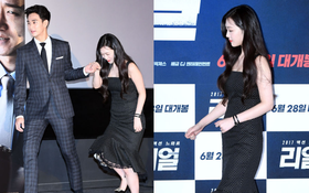 Xuống sắc vì tăng cân mạnh và lộ bụng ngấn mỡ, Sulli vẫn cười tít mắt khi được Kim Soo Hyun dìu