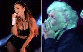 Bà của Ariana Grande sửng sốt khi xem cháu hát tục tĩu trên sân khấu