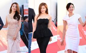 Thảm đỏ liên hoan phim quốc tế gây chú ý với màn đọ sắc của loạt mỹ nhân không tuổi đình đám xứ Hàn