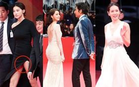 """Thảm đỏ hot nhất hôm nay: Yoona khoe lưng trần bên tài tử Jang Dong Gun, sao """"Vì sao đưa anh tới"""" lộ hàng"""
