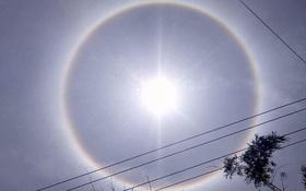 Đừng xôn xao nữa vì đây là lời giải cho sự xuất hiện quầng hào quang quanh Mặt trời ở Huế hôm nay