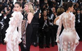 Met Gala có Kendall Jenner, Cannes 2017 lại có Sara Sampaio mạnh dạn diện váy hở vòng 3