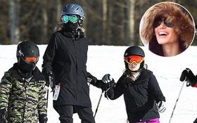 Angelina Jolie trượt tuyết với các con sau tin đồn giảm cân còn 34 kg