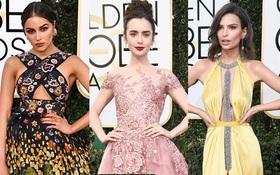 Thảm đỏ Quả Cầu Vàng 2017: Lily Collins đẹp như công chúa, đánh bật dàn Hoa hậu, mỹ nhân Hollywood