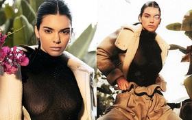 Kendall Jenner quá sexy với áo xuyên thấu khoe trọn vòng 1 bấm khuyên