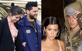 """Trong khi Selena say đắm The Weeknd, Justin lại """"lái máy bay"""" với chị cả nhà Kardashian?"""