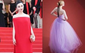 """Phạm Băng Băng """"đã chịu"""" lấy lại phong độ, đẹp không thua kém Elle Fanning trên thảm đỏ Cannes"""