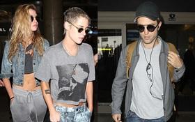 Tình huống trớ trêu: Kristen Stewart và người yêu mới phải ngồi chung máy bay với Robert Pattinson