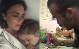 David Beckham trổ tài làm bánh mừng sinh nhật 6 tuổi của công chúa Harper