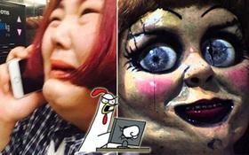 """Đến khán giả Hàn Quốc cũng bị búp bê Annabelle hành hạ đến... """"tè ra quần""""!"""