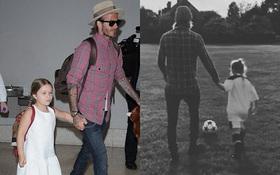 Không phải cậu con trai nào của Beckham, mà Harper mới chính là cầu thủ tiềm năng nối nghiệp bố