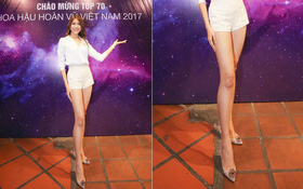 """BTC """"Hoa hậu Hoàn vũ VN"""" thật có tâm khi kéo dài chân quá đà cho Lệ Hằng!"""