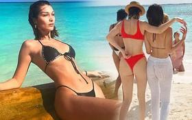 Bella Hadid và Kendall Jenner khiến fan xuýt xoa với 3 vòng nóng bỏng, eo thon hông nở siêu hút mắt