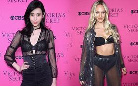 """""""Siêu mẫu vồ ếch"""" Ming Xi diện đồ gợi cảm đọ sắc cùng dàn thiên thần Victoria's Secret trên thảm hồng"""